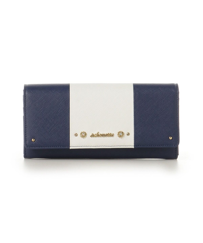 バイカラーフラップ財布
