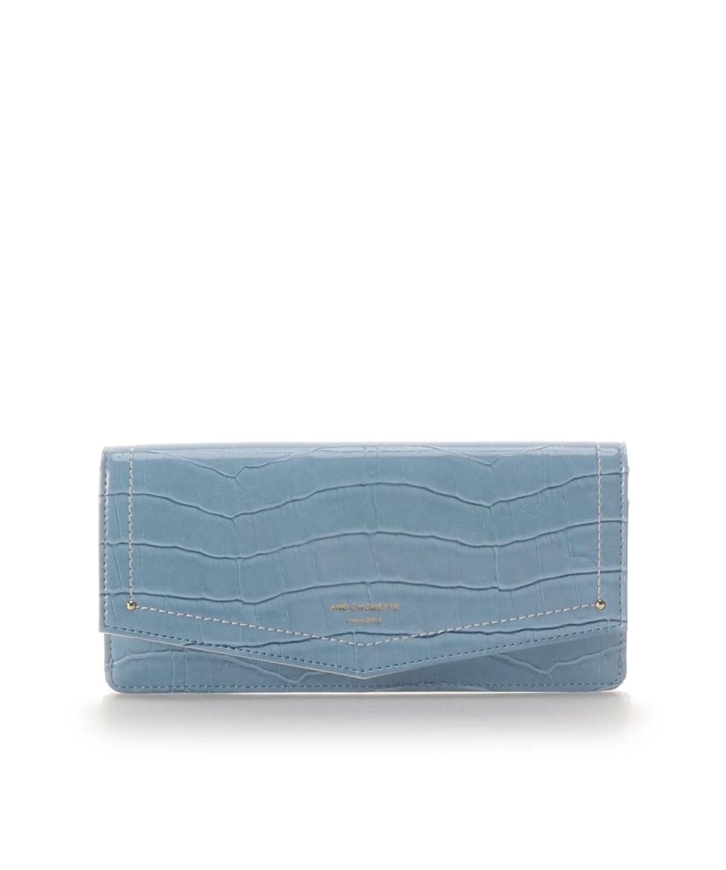 エナメルクロコ かぶせ長財布