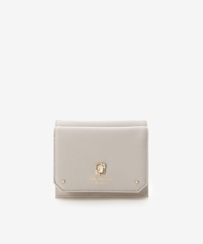 スクエアビジュー二つ折り財布【ミニ財布・かわいい財布・カード収納】