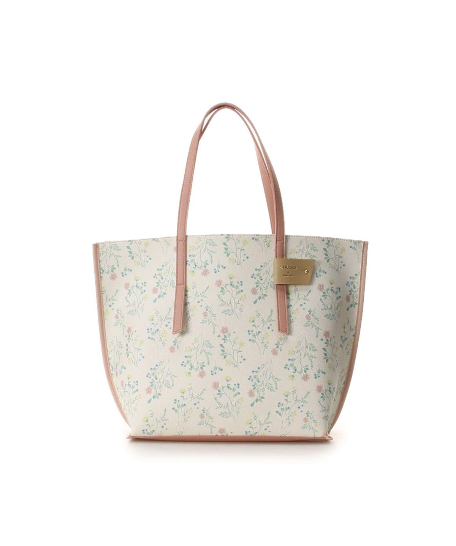 花柄配色トートバッグ